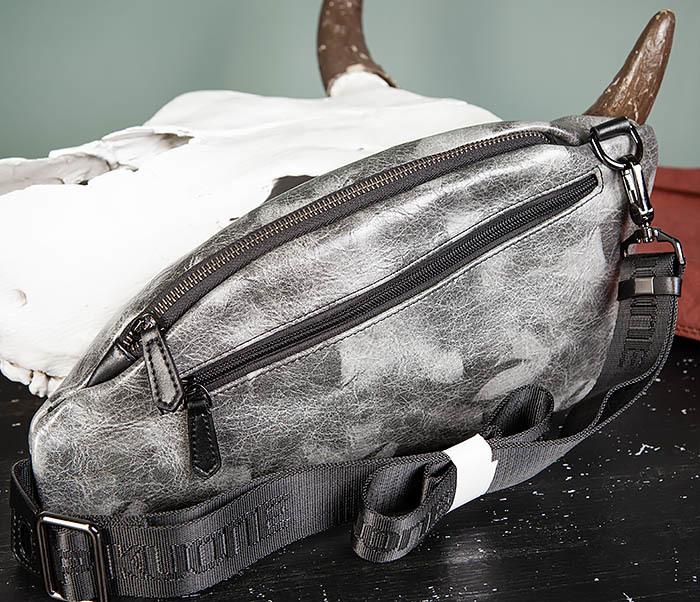BAG487-3 Мужская сумка «банан» через плечо фото 07