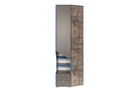 Шкаф многоцелевого назначения Индиго 10.19 Моби темно-серый, граффити