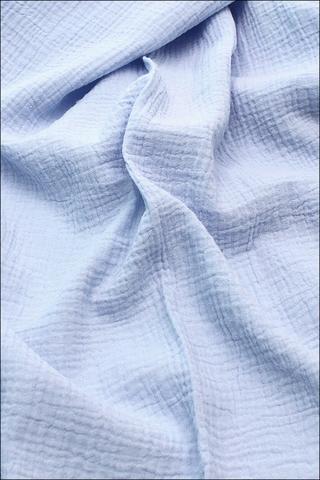 Ткань муслиновая, фиалково-голубой