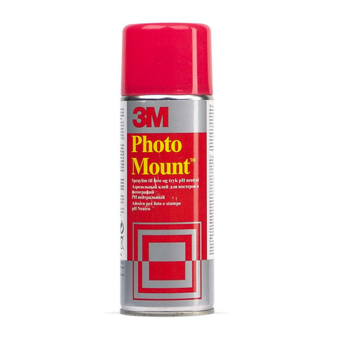 Клей-спрей 3M Photo Mount для обработки крупноформатных поверхностей 400 мл