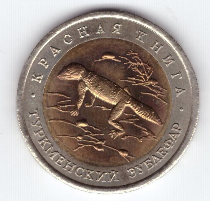 "50 рублей ""Туркменский эублефар"" 1993 год XF"