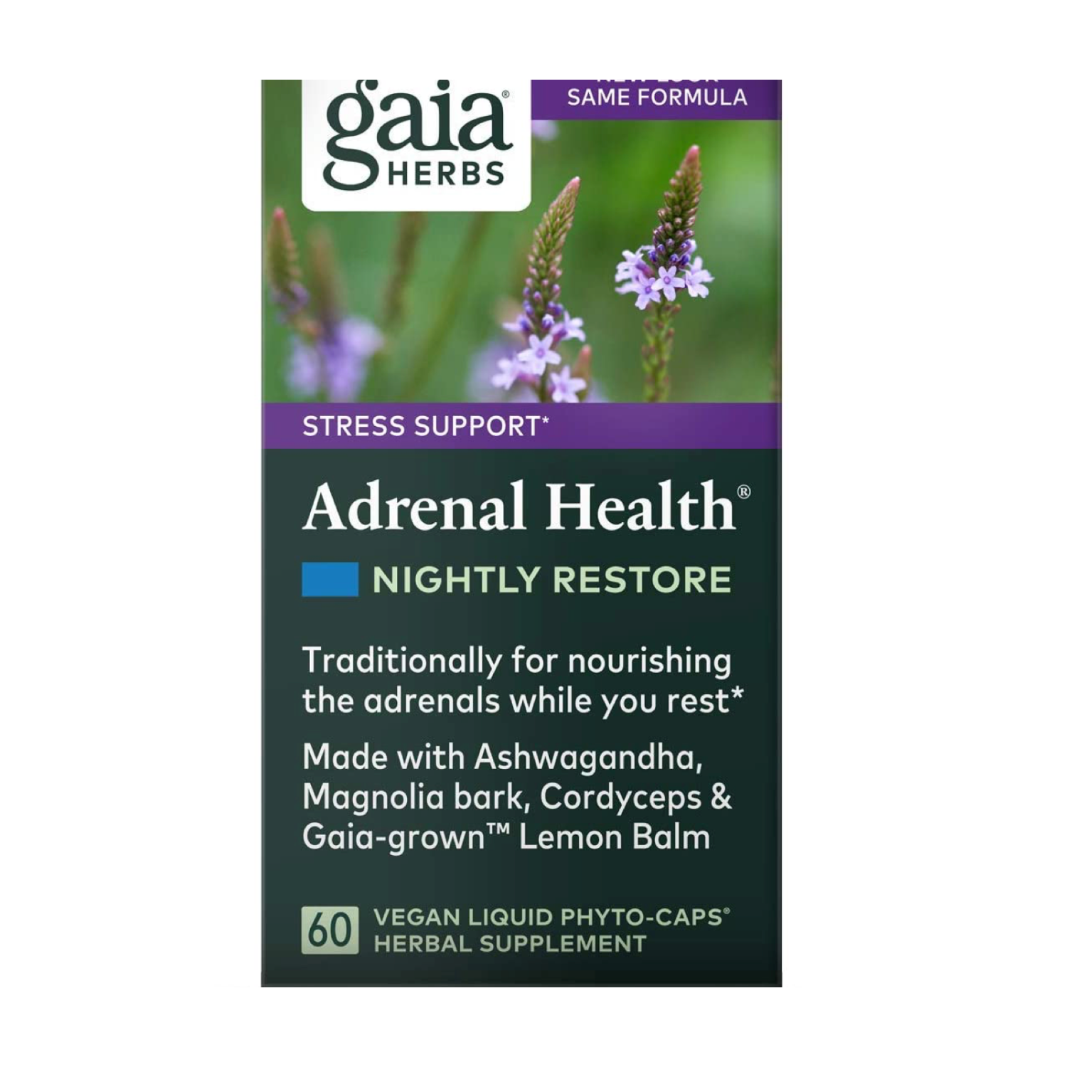 Adrenal Health Nightly Restore, Gaia Herbs,