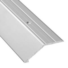 Порог алюминиевый переходной ПО-45х15 серебро 45x2700 мм