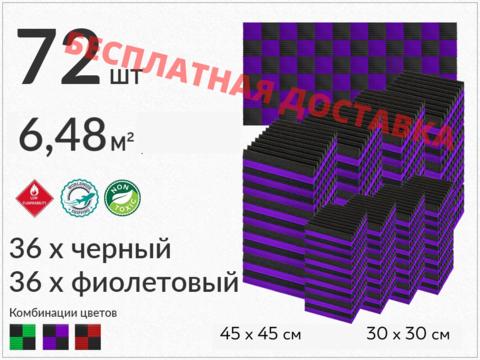 Набор акустического поролона ECHOTON KLIN (72 шт.)