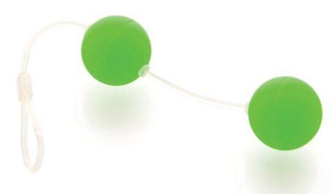 Зеленые вагинальные шарики на прозрачной сцепке