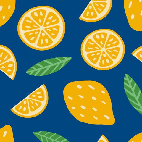 Абстрактный принт с лимонами