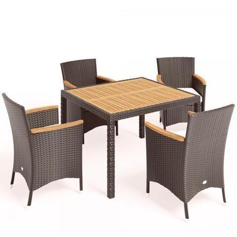 Комплект плетеной мебели AFM-440B 90x90 Brown (4+1) МРК