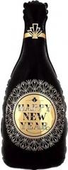 К Фигура, Бутылка Шампанское, (золотые грани), Черный, 41''/104 см, 1 шт.