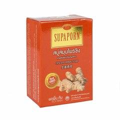 Мыло с экстрактом Имбиря и маслом рисовых отрубей, 100 гр., Supaporn