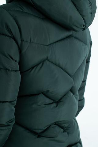 Куртка с капюшоном и синтепоном зеленая купить
