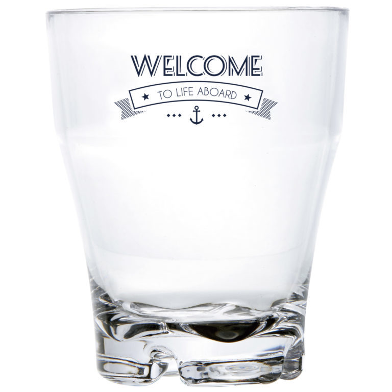 STACKABLE GLASS, PARTY – WELCOME TO LIFE – MS 6 UN
