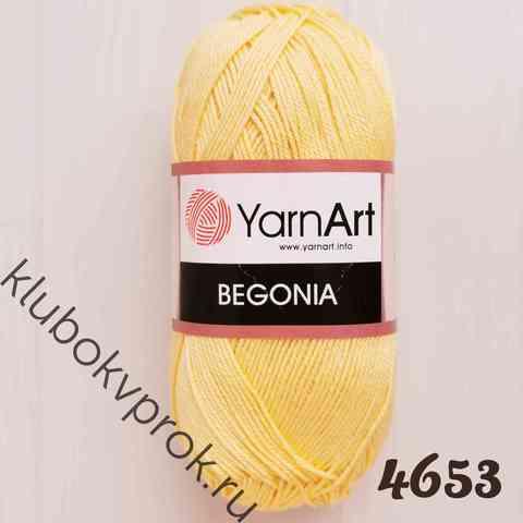YARNART BEGONIA 4653, Светлый желтый