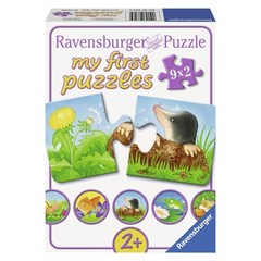 Puzzle Garden Animals 9x2 pcs