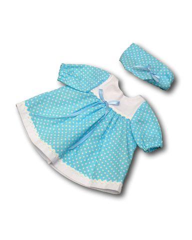 Платье хлопковое - Бирюзовый. Одежда для кукол, пупсов и мягких игрушек.