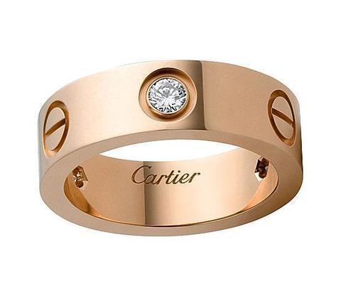 Кольцо Cartier Love Diamonds Rose Gold