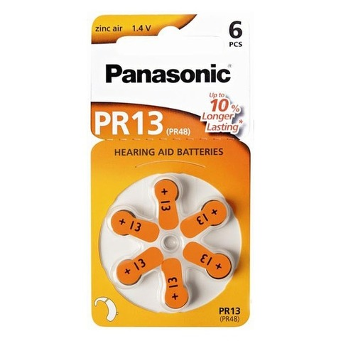 Батарейки Panasonic Zinc Air PR 13 / (6 bl)