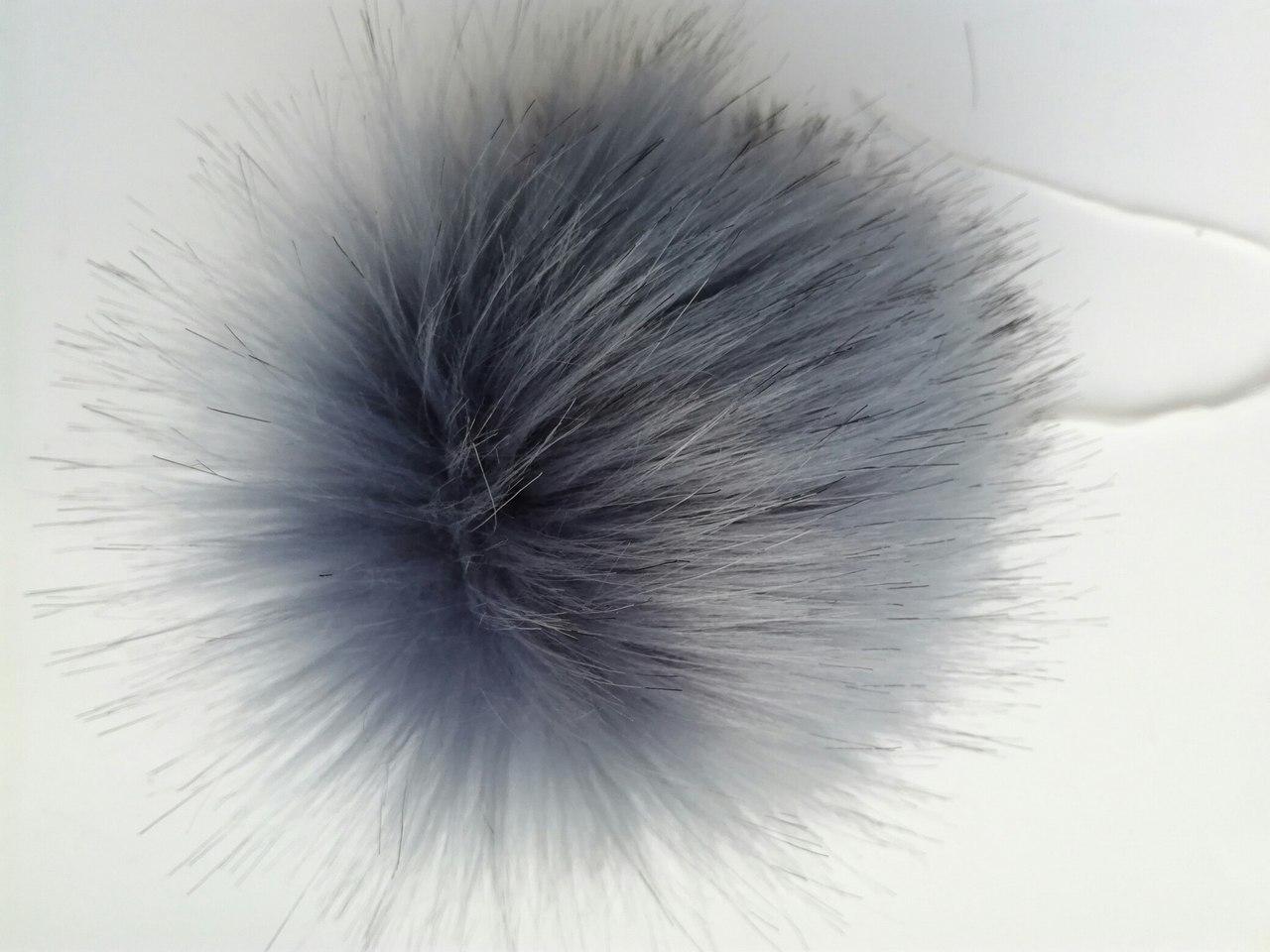 Помпон искусственный серый