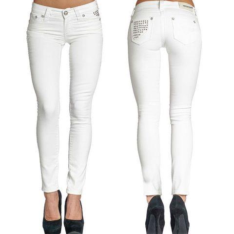 Белые женские джинсы Affliction