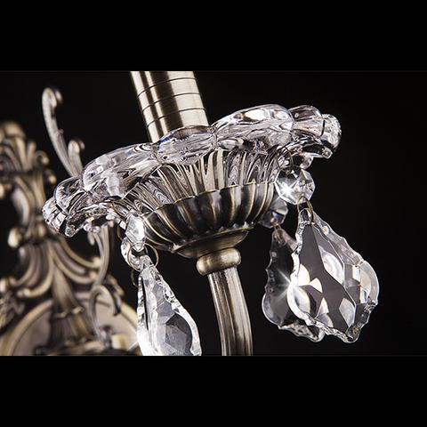 Бра с хрусталем 3281/1 античная бронза / прозрачный хрусталь