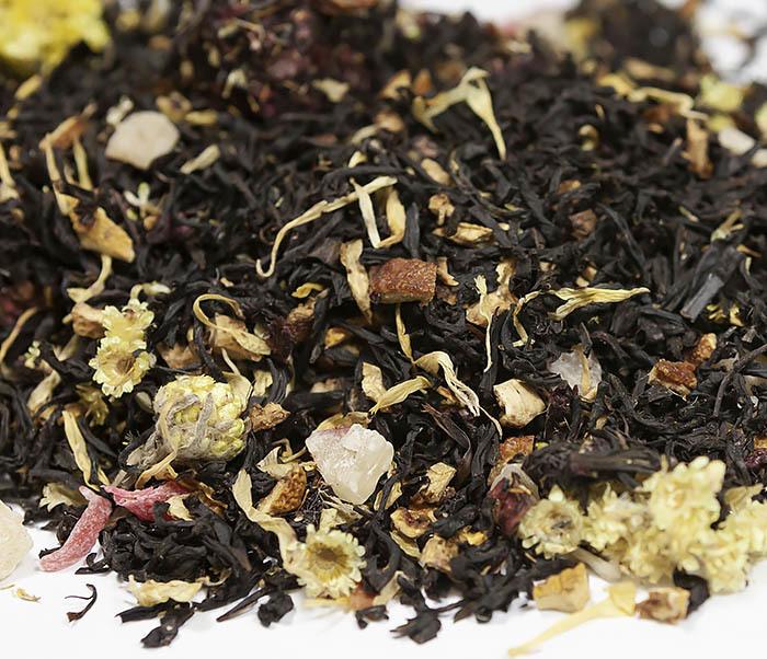TEA-AR110 Черный ароматизированный чай «Поцелуй Гейши» (50 гр)