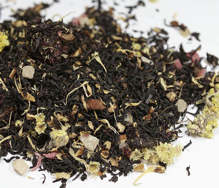 TEA-AR110 Черный ароматизированный чай «Поцелуй Гейши» (50 гр) фото 02