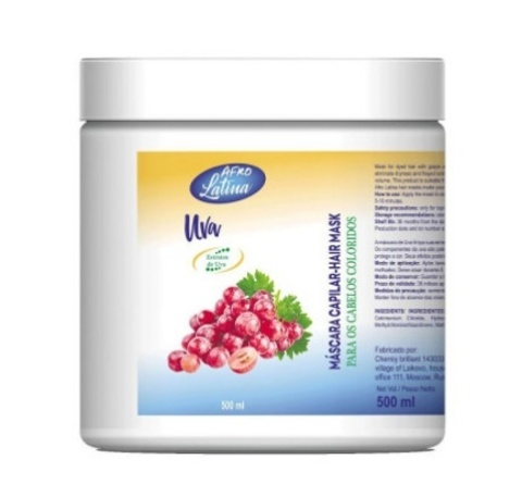 AFRO LATINA Hair Mask 500 ml Grape (виноград)