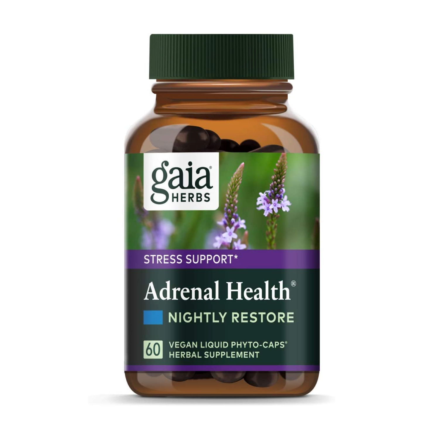 Adrenal Health Nightly Restore, Gaia Herbs, 60 капсул
