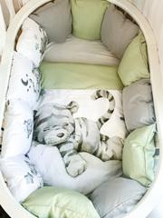 Бортики для кроватки с одеялком «Тигрята»