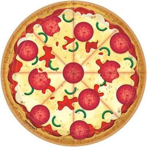 Тарелки малые Пицца, 8 штук