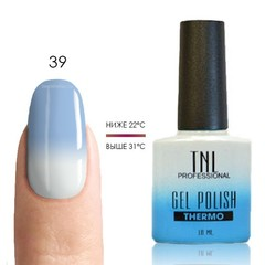 TNL, Термо гель-лак № 39 - голубой/белый, 10 мл