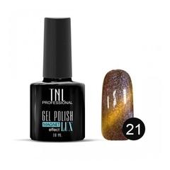 TNL, Гель-лак Magnet LUX №21 - кирпично-коричневый с блестками, 10 мл