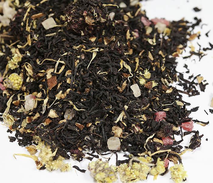 TEA-AR110 Черный ароматизированный чай «Поцелуй Гейши» (50 гр) фото 03