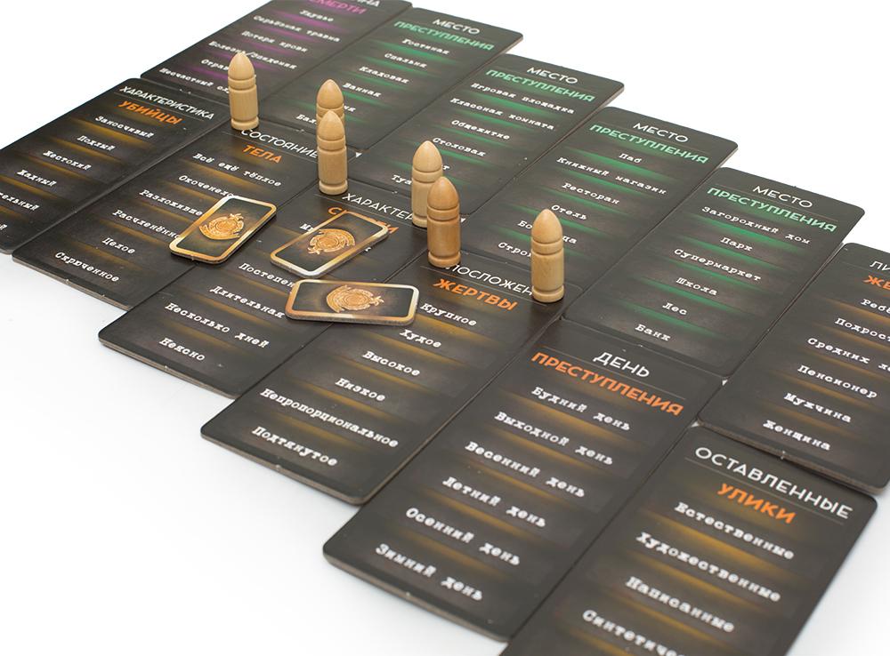 Настольная игра Криминалист (карточки)