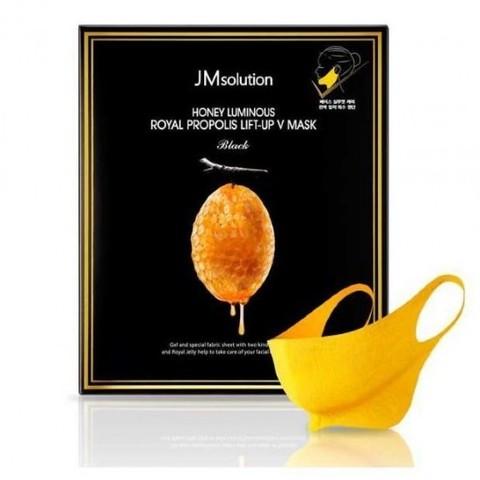 JMsolution Маска для подтяжки контура лица с маточным молочком Honey Luminous Royal Propolis Lift-Up V Mask 1 шт