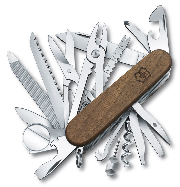Складной многофункциональный нож Victorinox SwissChamp Wood (1.6791.63) 91 мм., 29 функций, деревянная рукоять - Wenger-Victorinox.Ru