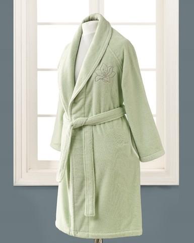 Короткий махровый халат LILIUM SALYAKA светло-зеленый