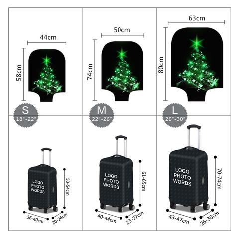 Чехол для чемодана - Ёлка