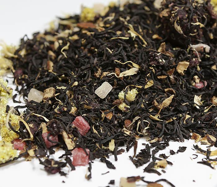 TEA-AR110 Черный ароматизированный чай «Поцелуй Гейши» (50 гр) фото 04