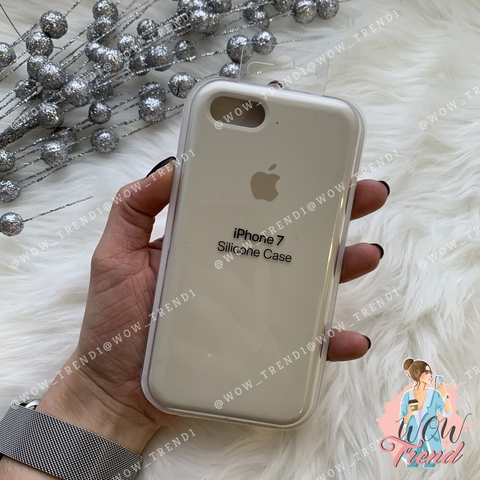 Чехол iPhone 7/8 Silicone Case /antique white/ молочный 1:1