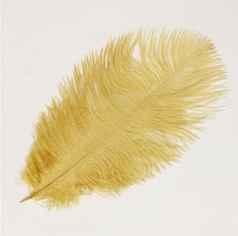 Перо  страуса  декоративное 25-30 см. 30-35 см. (цена за 1 шт.) золотой