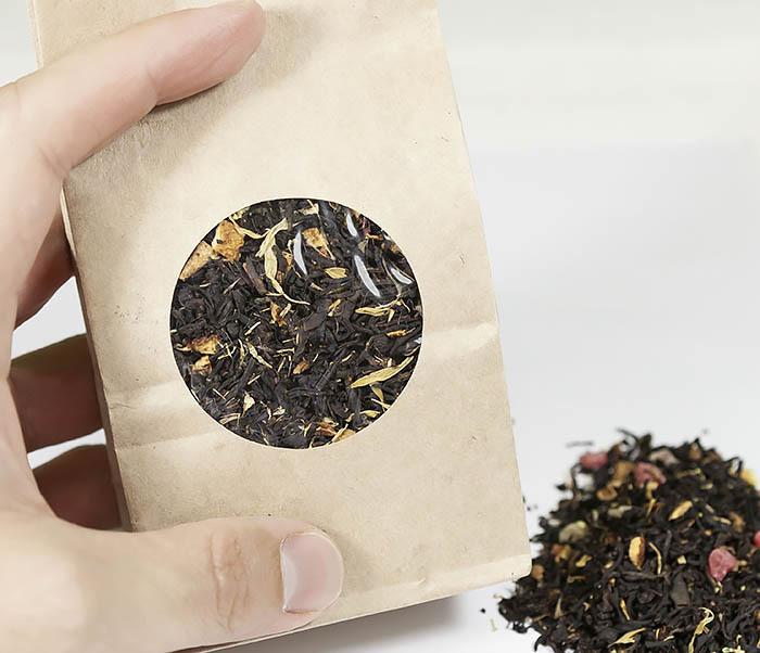 TEA-AR110 Черный ароматизированный чай «Поцелуй Гейши» (50 гр) фото 05