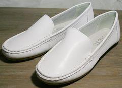 Белые женские мокасины AESD 902 White