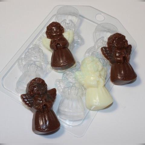 Пластиковая форма для шоколада пас. 4 АНГЕЛОЧКА (55х35мм)
