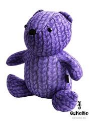 Подушка-игрушка антистресс Gekoko «МиниМишка Вязаный», фиолетовый 3