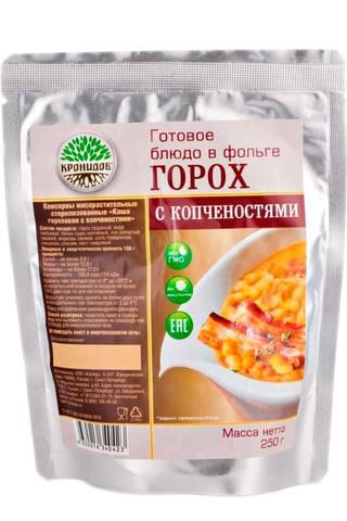 Каша гороховая с копчёностями 'Кронидов', 250г в магазине Каша из топора - походная еда
