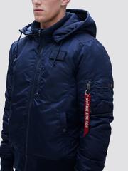 Куртка Alpha Industries MA-1 Hooded Rib Rep. Blue (Синий)