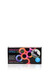 Midnight Mitts Nitrile Gloves Small | Перчатки черные нитриловые S (100 штук в упаковке)