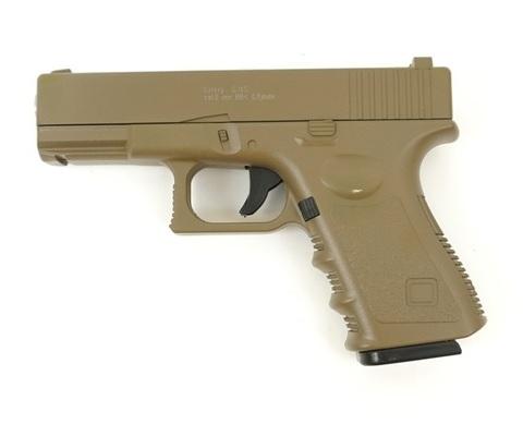 Страйкбольный пистолет Galaxy G.15D Glock металлический, пружинный