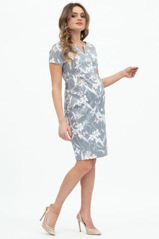 Платье для беременных 09473 серый