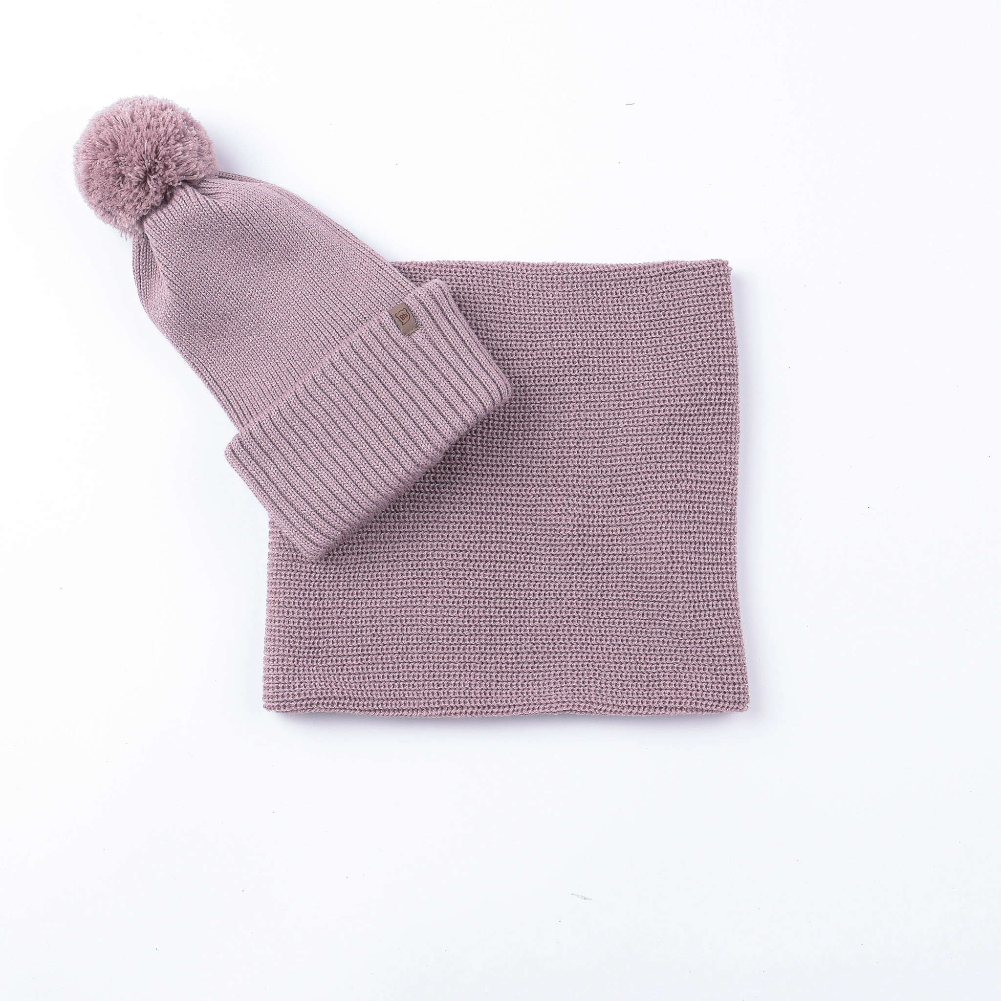Knitted snood - Gray Rose